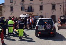 protezione civile a Accumuli