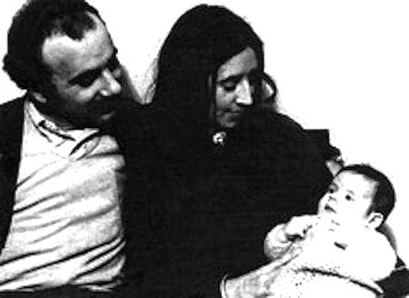 Domingo Menna con Ana Maria Lanzillotto e il loro figliolo Ramiro