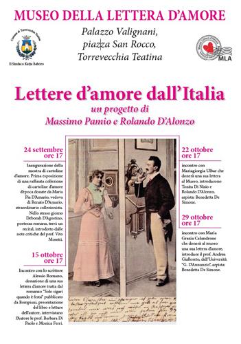 lettere d'amore dall'italia