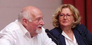Lucilla Sergiacomo con il drammarturgo Mario Fratti