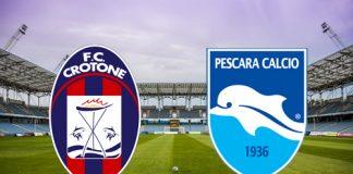 Crotone-Pescara diretta