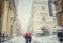 Corso Marrucino Chieti con neve
