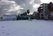 Montesilvano neve spiaggia