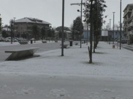 Neve in piazza San Rocco a SGT
