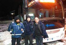 autobus TUA per gli sfollati