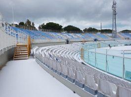 neve allo Stadio Adriatico di Pescara