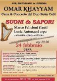 Omar Khayyam cena concerto 24 febbraio