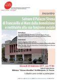 Salvare il Palazzo Sirena Francavilla