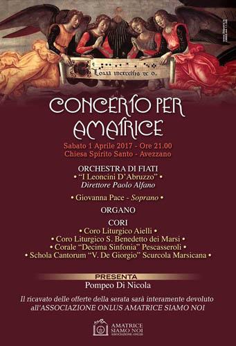 Concerto per Amatrice 1 Aprile