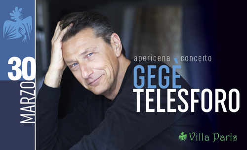 Gegé Telesforo in concerto a Villa Paris