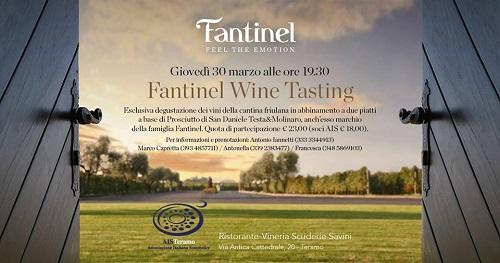 l Prosciutto San Daniele e i vini dell'Azienda Fantinel-Scuderie Savini-Teramo