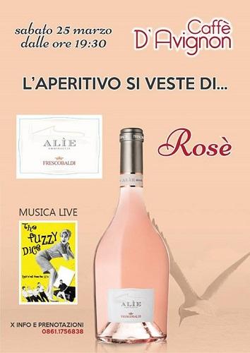 The Fuzzy Dice live aperitivo si veste di rosé caffè d'avignon teramo