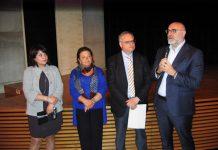 Sindaco Di Primio, Assessore Viola, dr Arbace, dirig. Di Renzo