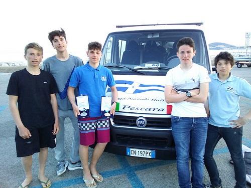 Squadra Leser LNI Pescara a Formia