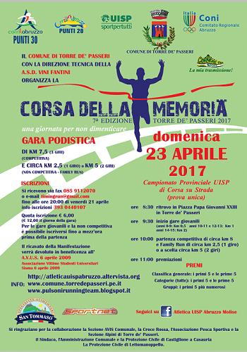 corsa della memoria 2017
