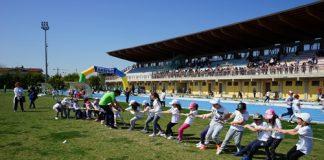 pista di atletica di via Senna tiro fune