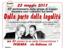 23 MAGGIO 1992 – 23 MAGGIO 2017 DALLA PARTE DELLA LEGALITÀ