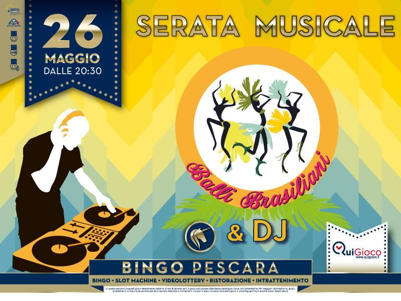 Bingo Pescara balli brasiliani 26 maggio 2017