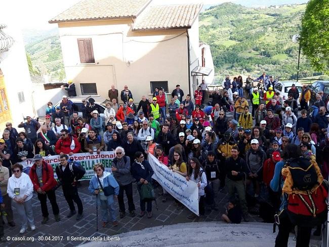 """Casoli, 17ª Marcia Internazionale """"Il sentiero della libertà"""""""