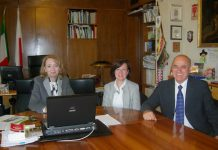 Consigliera Com. Betta Fusilli, Mauro Favilli responsabile Family Search e Isabella Persico Centro Storia Familiare