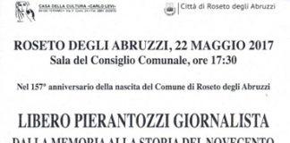 Iniziativa a Roseto Degli Abruzzi Libero Pierantozzi