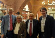L'On. Gianni Cervetti a Teramo con il Prof. Roberto Ricci, Pasquale Limoncelli e Mirko De Berardinis