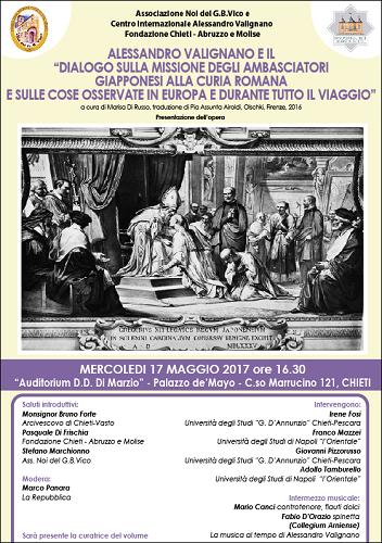 PRESENTAZIONE VOLUME ALESSANDRO VALIGNANO - locandina