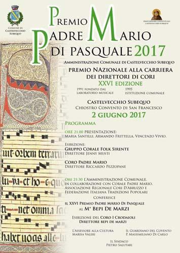 Premio nazionale ai direttori di cori Padre Mario Di Pasquale