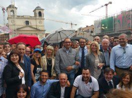 Salvini a L'Aquila 24 maggio 2017
