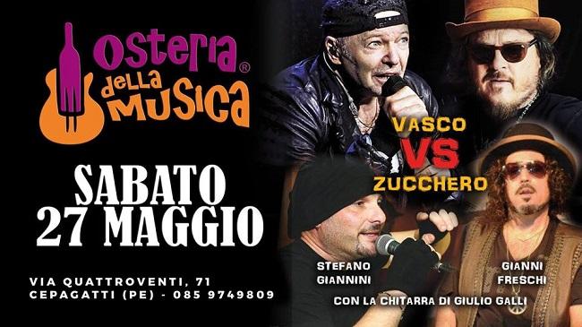 Vasco vs Zuccero 27 maggio 2017