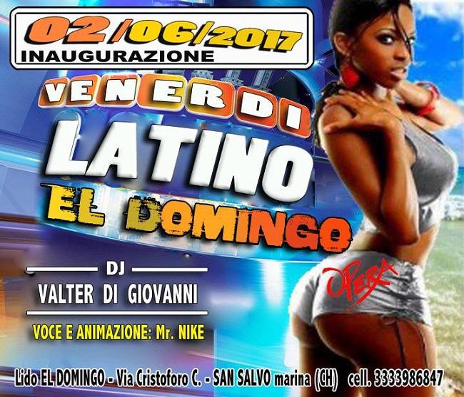Venerdì Latino El Domingo 2 giugno 2017