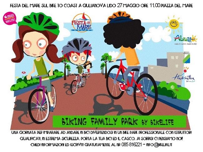 biking family park festa del mare sul bike to coast giulianova 27 maggio