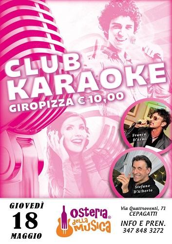 club karaoke 18 maggio 2017
