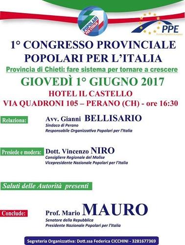 congresso provinciale popolari per l'Italia
