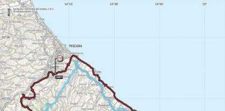 giro d'Italia mappa in Abruzzo