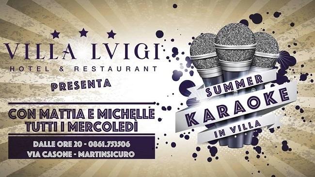 karaoke in villa