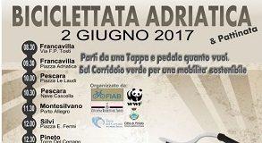 locandina biciclettata adriatica 2 giugno 2017