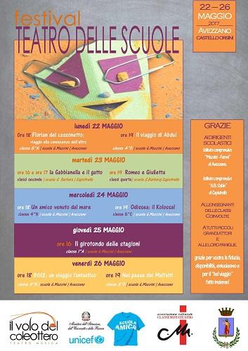 locandina festival teatro scuole 2017