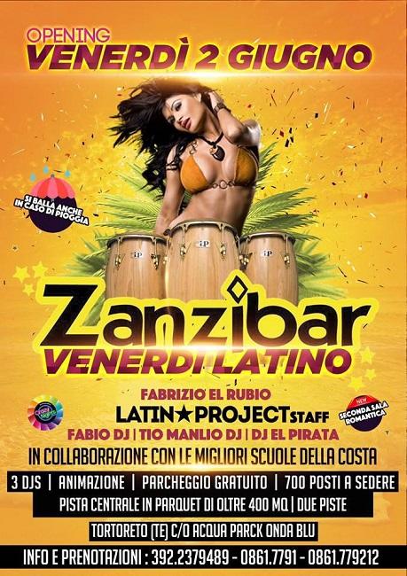 zanzibar venerdì latino 2 giugno 2017