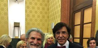 Goffredo Palmerini con Elio Di Rupo, a Teramo