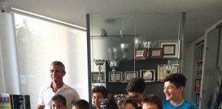 Mauro Colangelo con i tennisti premiati
