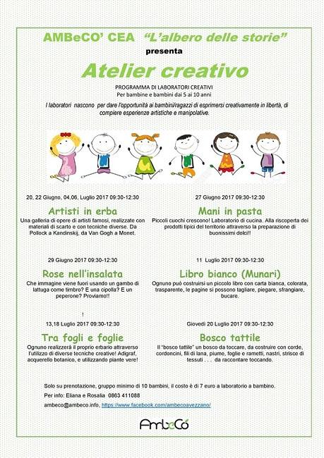 telier creativo laboratorio per bambini avezzano aq
