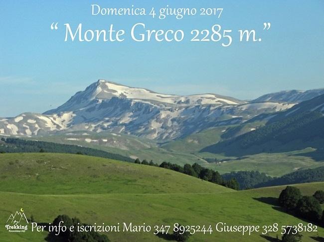 escursione al monte greco 4 giugno