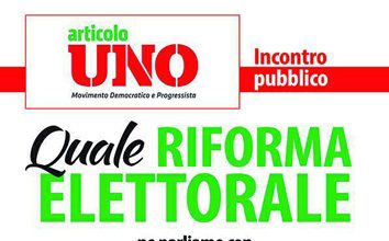 incontro Art.1 - Mdp su riforma elettorale