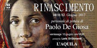 manifesto RINASCIMENTO mostra DE Giosa L'Aquila