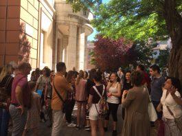 proteste al Liceo Classico di Pescara