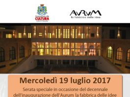 Festa per il decennale dell'Aurum - 19 luglio