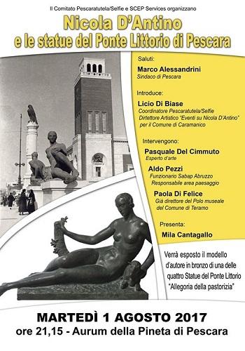 Nicola D'Antino e le statue del Ponte Littorio di Pescara