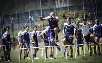 allenamento Pescara a Rivisondoli