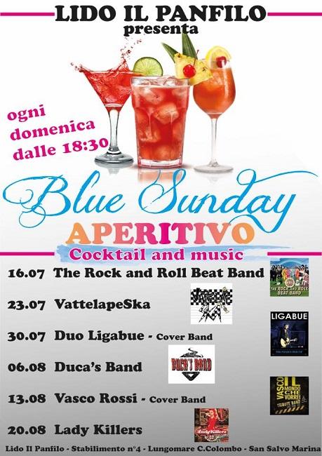 aperitivo blue sunday lido panfilo